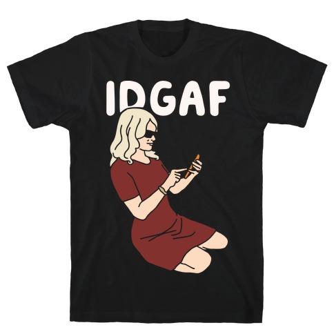 Kellyanne IDGAF White Print Mens T-Shirt