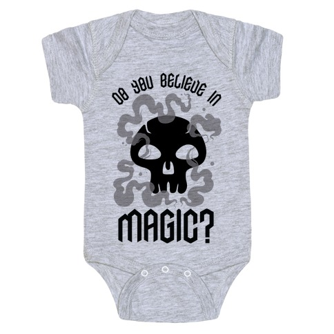 Do You Believe in Magic Black Magic Baby Onesy