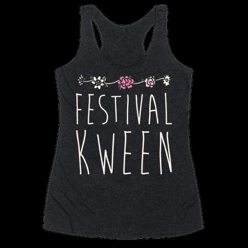 Festival Kween White Print