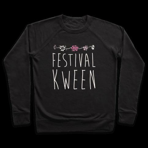 Festival Kween White Print Pullover