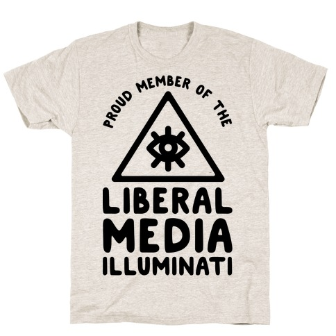 Liberal Media Illuminati Mens T-Shirt