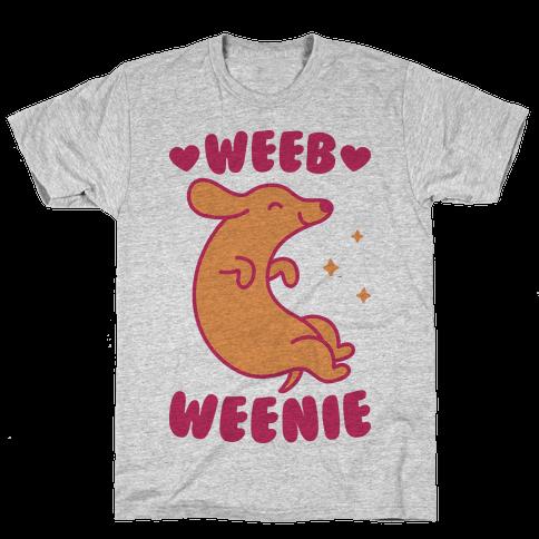 Weeb Weenie Dachshund Mens T-Shirt