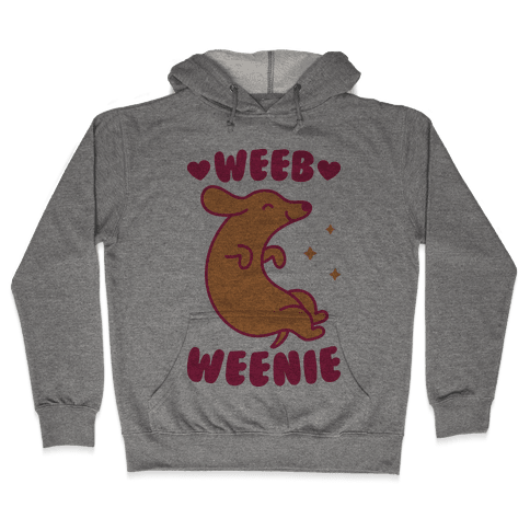 Weeb Weenie Dachshund Hooded Sweatshirt
