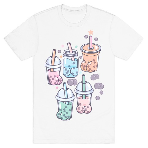 Boba Butts Pattern T-Shirt