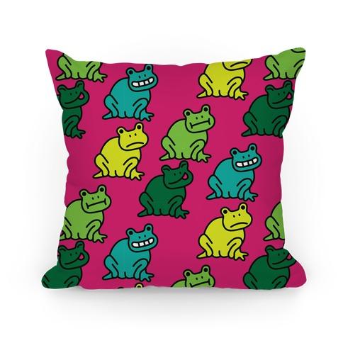 Froggie Booty Pattern Pillow