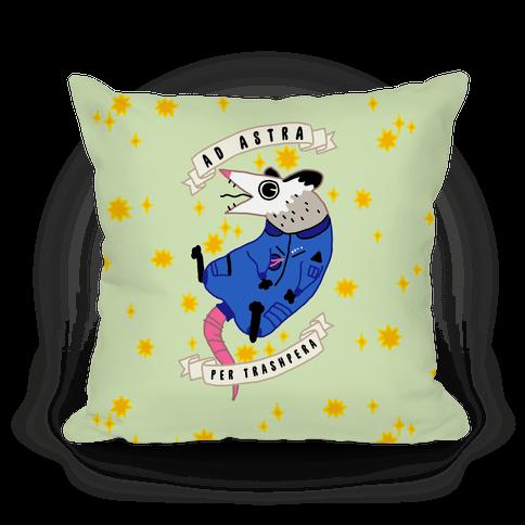 Ad Astra Per Trashpera Pillow