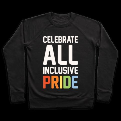 Celebrate All Inclusive Pride White Print Pullover