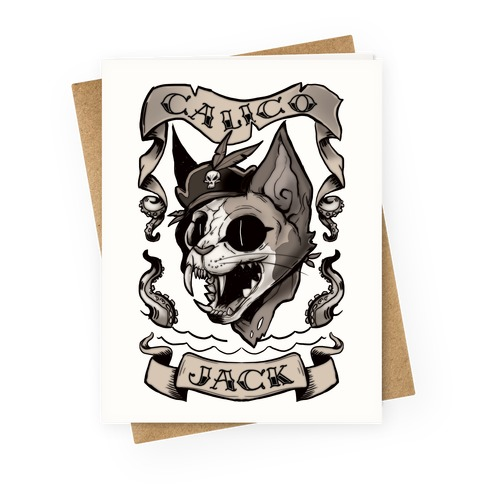 Calico Jack Greeting Card