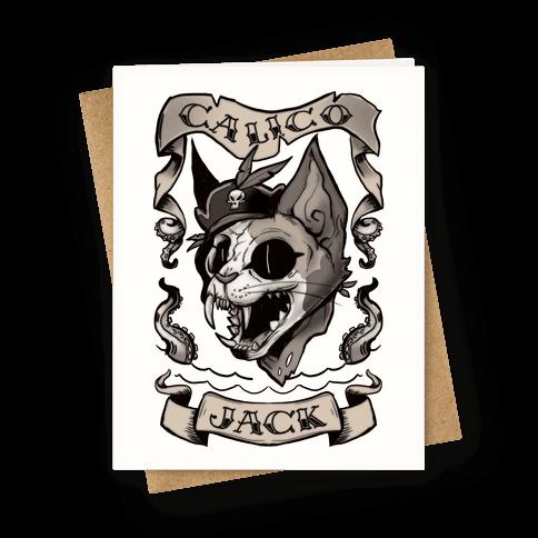 Calico Jack Greeting Card