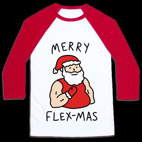 Merry Flex-mas Baseball Tee