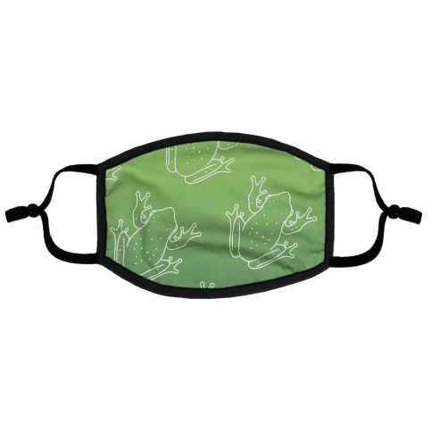 Froggy Green Gradient Flat Face Mask