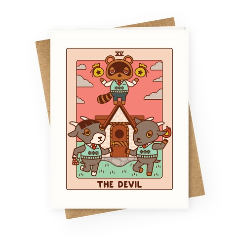 The Devil Tom Nook Greeting Card