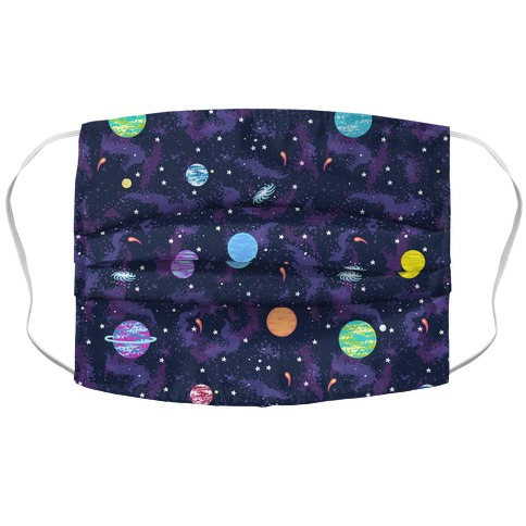 90s Cosmic Planet  Accordion Face Mask