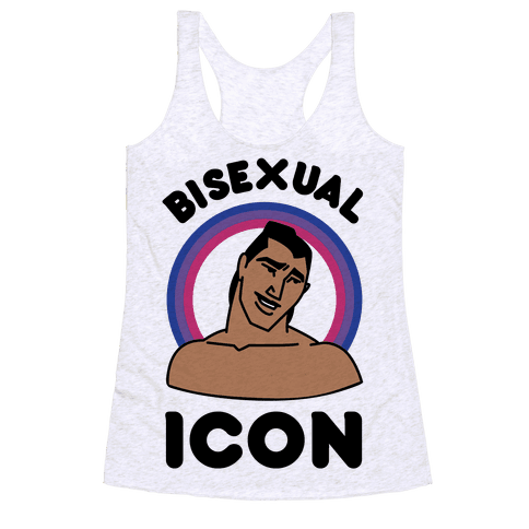 Bisexual Icon Racerback Tank Top