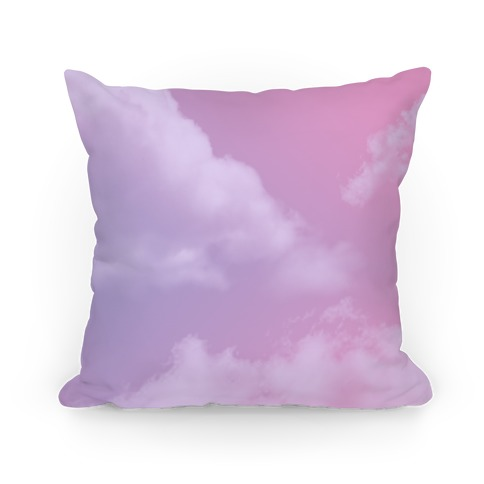 Dreamy Y2K Clouds Pillow