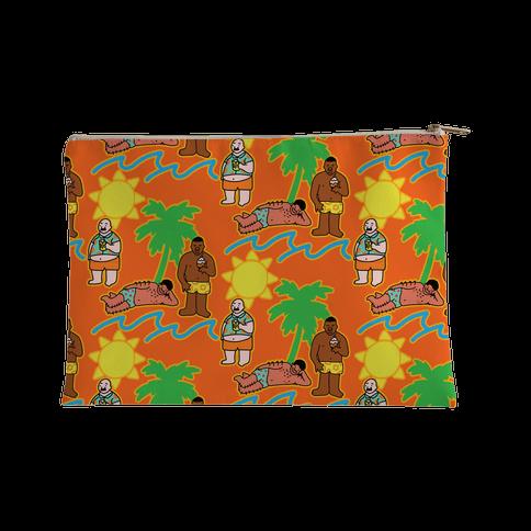 Beach Dad Pattern Accessory Bag