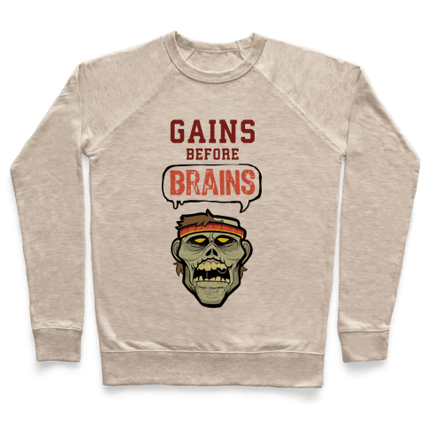 GAINS before BRAINS! Pullover