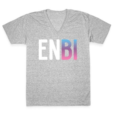 Enbi Bisexual Non-binary V-Neck Tee Shirt