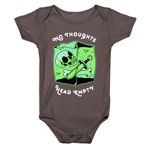 No Thoughts, Head Empty (Gelatinous Cube) Baby One-Piece