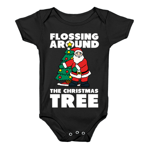 Flossing Around the Christmas Tree Baby Onesy