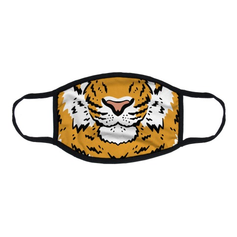 Tiger Face Flat Face Mask