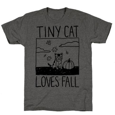 Tiny Cat Loves Fall T-Shirt