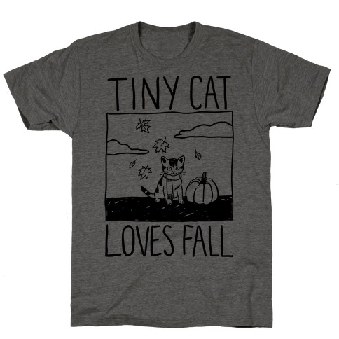 Tiny Cat Loves Fall T-Shirt