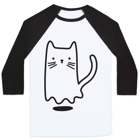 Ghost Cat Baseball Tee