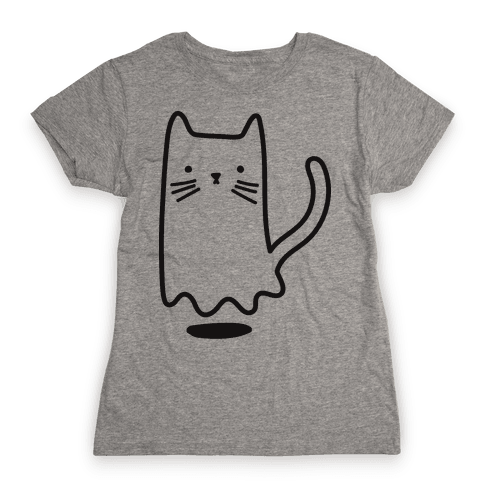 Ghost Cat Womens T-Shirt