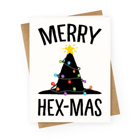 Merry Hex-Mas Greeting Card