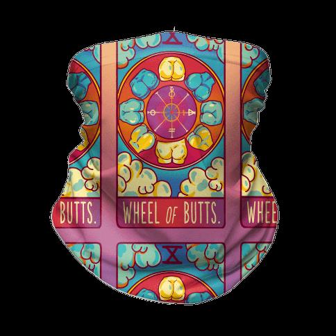 Wheel of Butts Tarot Neck Gaiter