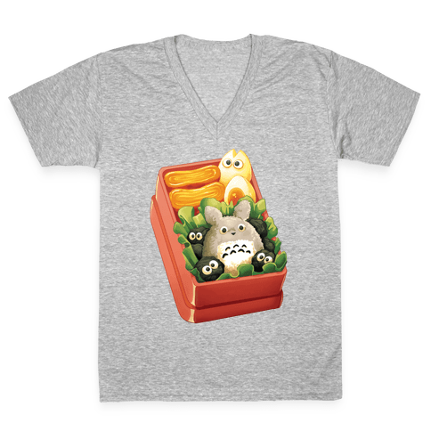 Totoro Bento V-Neck Tee Shirt