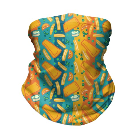 Groovy Fish And Chips Neck Gaiter
