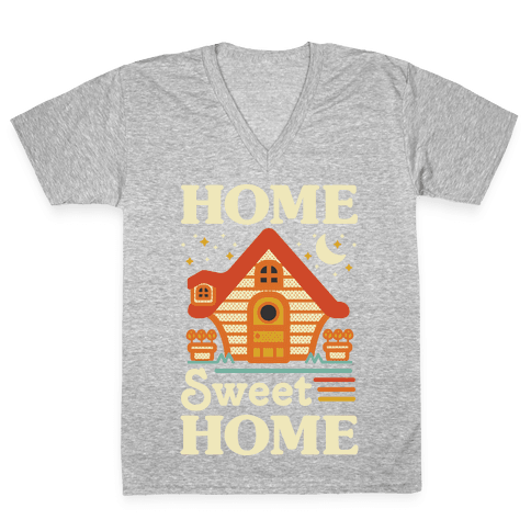 Home Sweet Home Animal Crossing V-Neck Tee Shirt