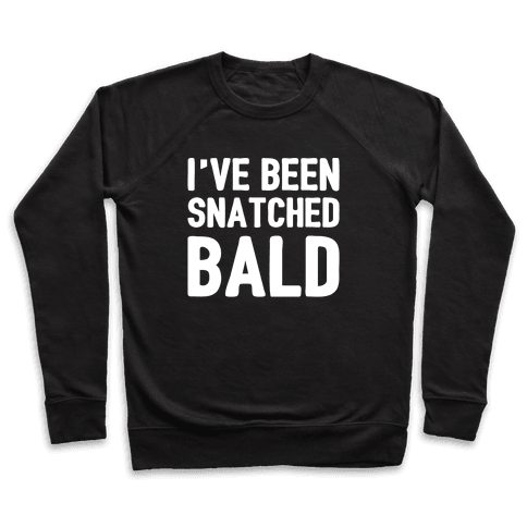 Snatched Bald White Print Pullover