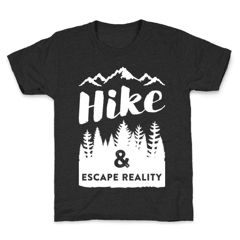 Hike & Escape Reality (White) Kids T-Shirt