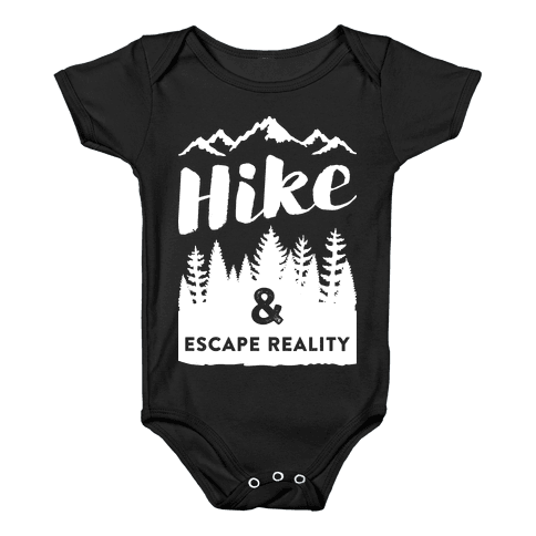 Hike & Escape Reality (White) Baby Onesy