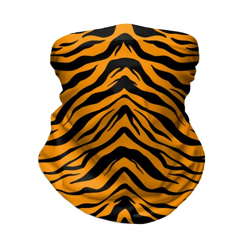 Tiger Stripe Pattern Neck Gaiter