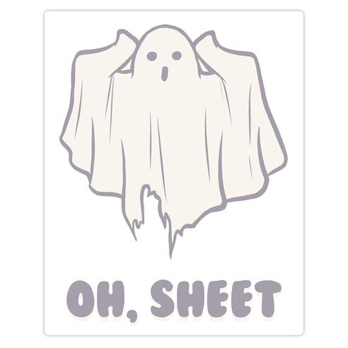 Oh, Sheet Die Cut Sticker