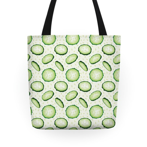 Refreshing Cucumber Pattern Tote