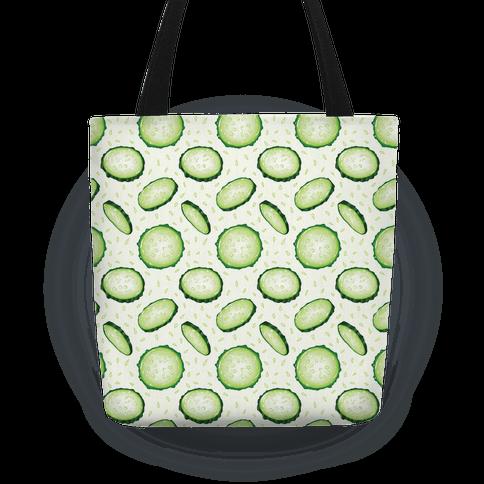 Refreshing Cucumber Pattern Tote