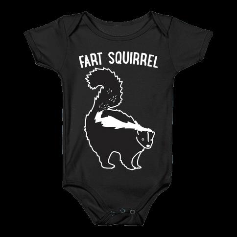 Fart Squirrel Skunk Baby Onesy