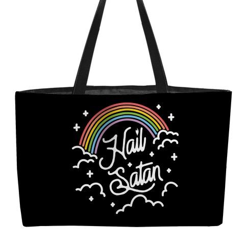 Hail Satan Rainbow Weekender Tote