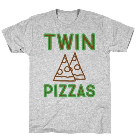 Twin Pizzas Parody T-Shirt