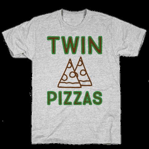 Twin Pizzas Parody Mens T-Shirt
