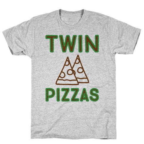 Twin Pizzas Parody Mens T-Shirt