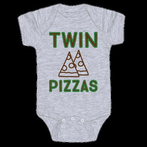 Twin Pizzas Parody Baby Onesy