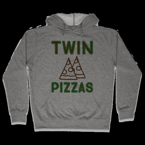 Twin Pizzas Parody Hooded Sweatshirt