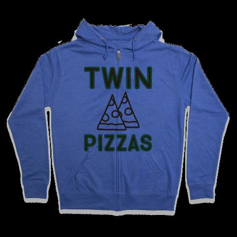 Twin Pizzas Parody Zip Hoodie