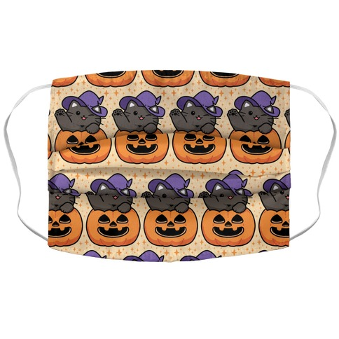 Cute Halloween Cat Accordion Face Mask